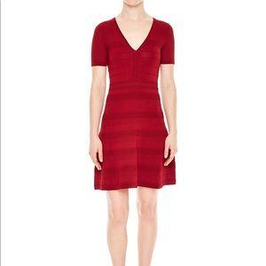 NWT Sandro Milau Textured Mesh Mini Dress
